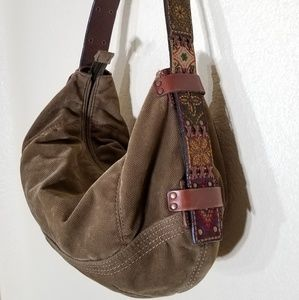 Vintage Fossil 1954 hobo bag